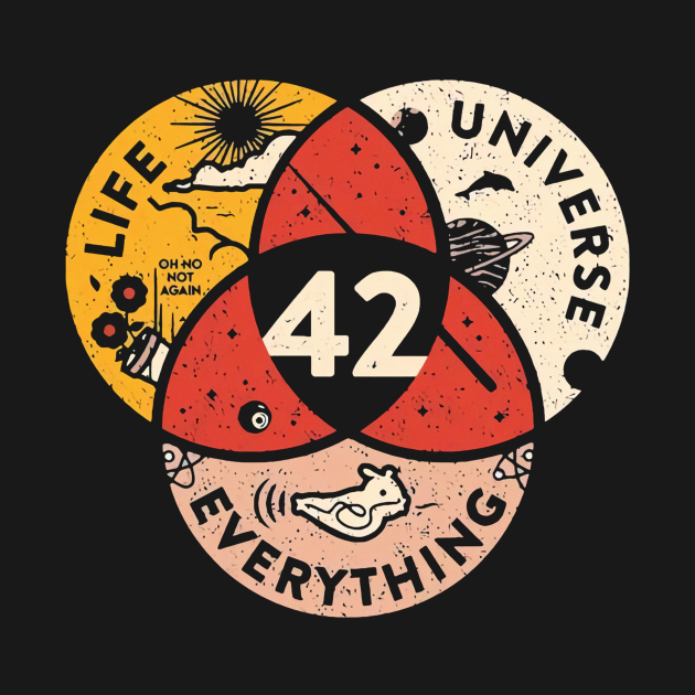 TeePublic: 42 The Answer To Life The Universe And Everything Vintage Gfft