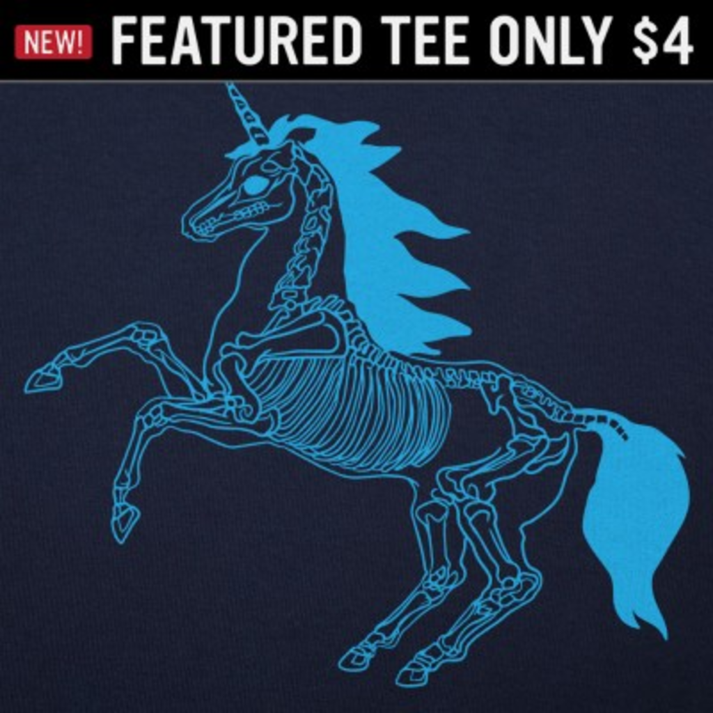 6 Dollar Shirts: Unicorn Skeleton