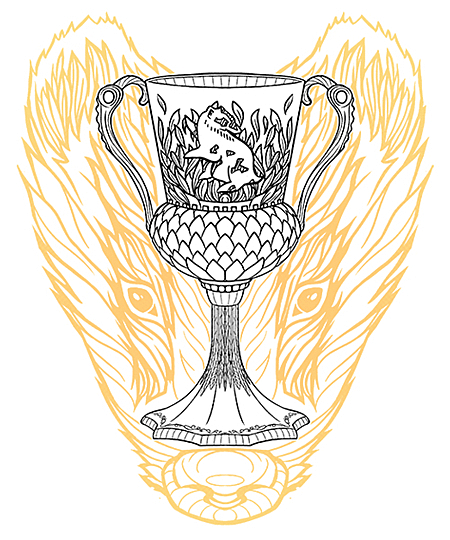 Qwertee: Goblet of Badgers