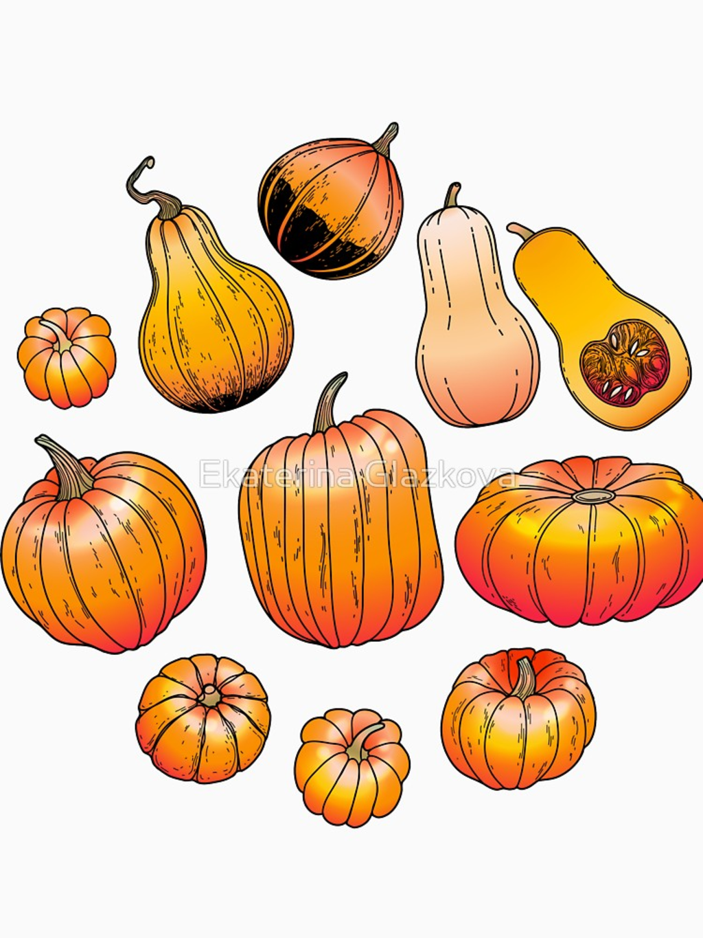RedBubble: Graphic collection of pumpkins