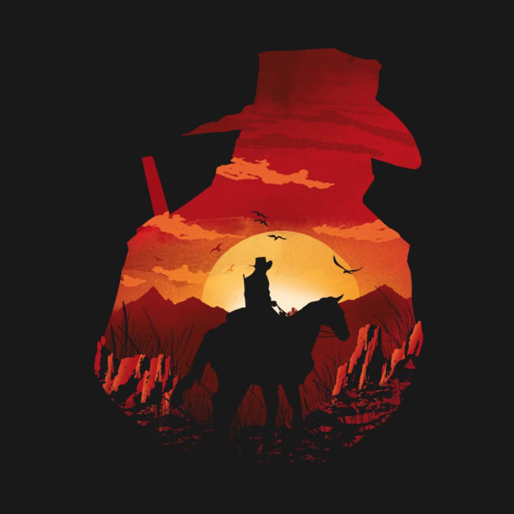 TeePublic: Red Sunset