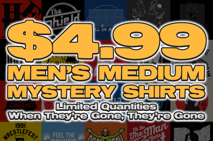Top Rope Tuesday: Men's Medium Mystery Shirt