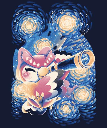 Qwertee: Celeste's Starry Night