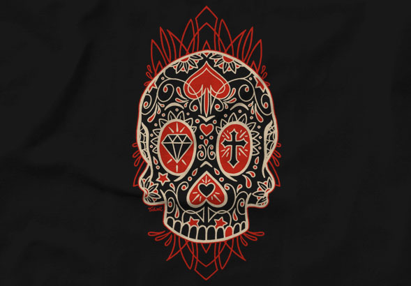 teeVillain: Diamond Cross Skull