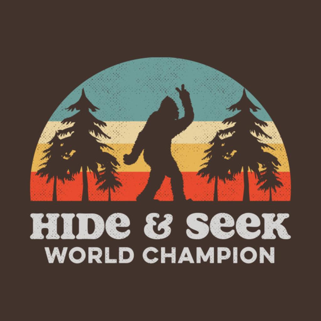 TeePublic: Retro Bigfoot Hide & Seek World Champion