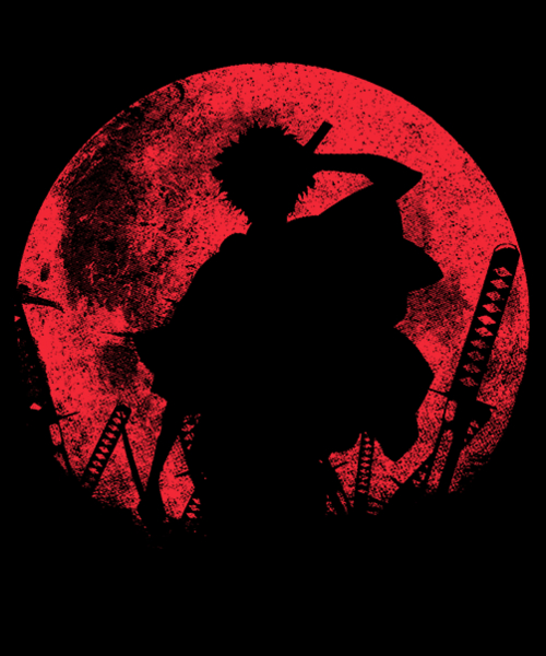 Qwertee: Samurai at night