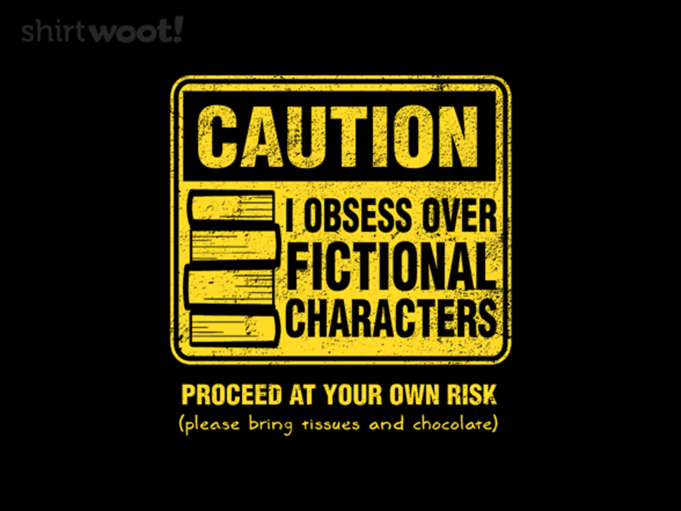 Woot!: Character Caution - $15.00 + Free shipping