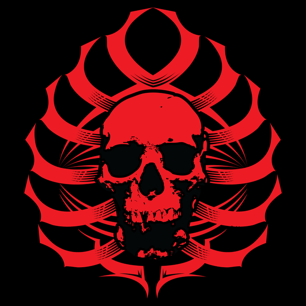 NeatoShop: Skull-Ribs Tribal        (RED)