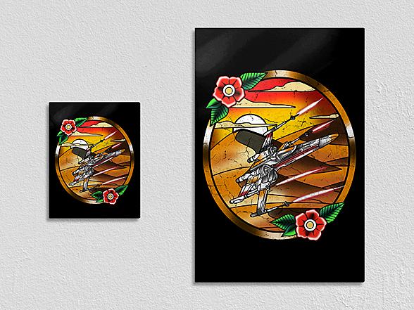 "Woot!: ""Rebel Spaceship"" Metal Poster"