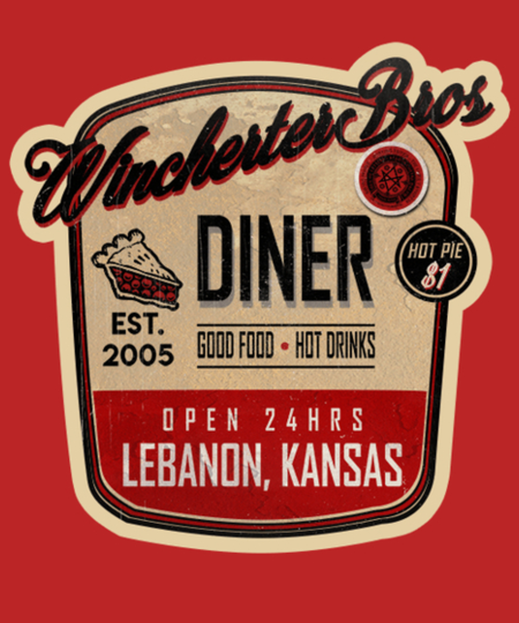 Qwertee: The Winchester Bros Diner