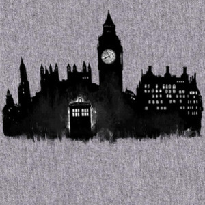 Qwertee: Police Box in London