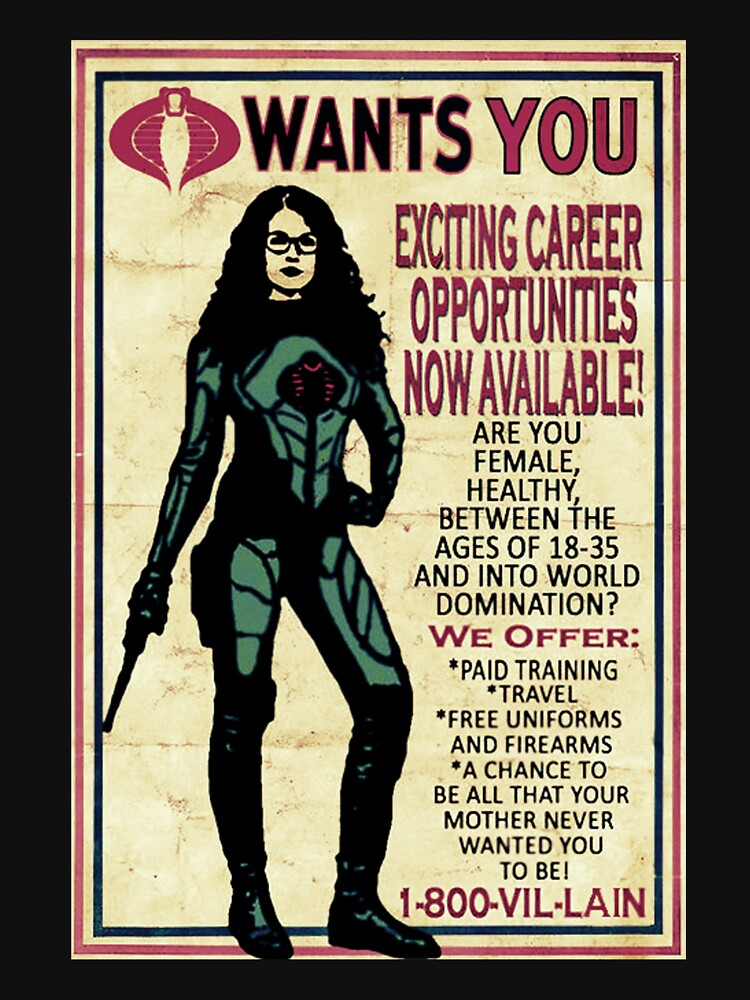 RedBubble: Cobra Recruiting poster Featuring the Baroness (G.I. Joe)