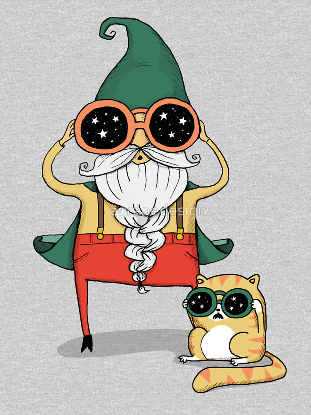 RedBubble: Wizard and Cat