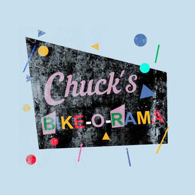 TeePublic: Chuck's Bike-O-Rama, distressed
