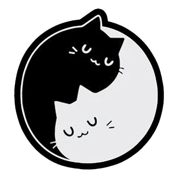BustedTees: Yin Yang Cats Mug