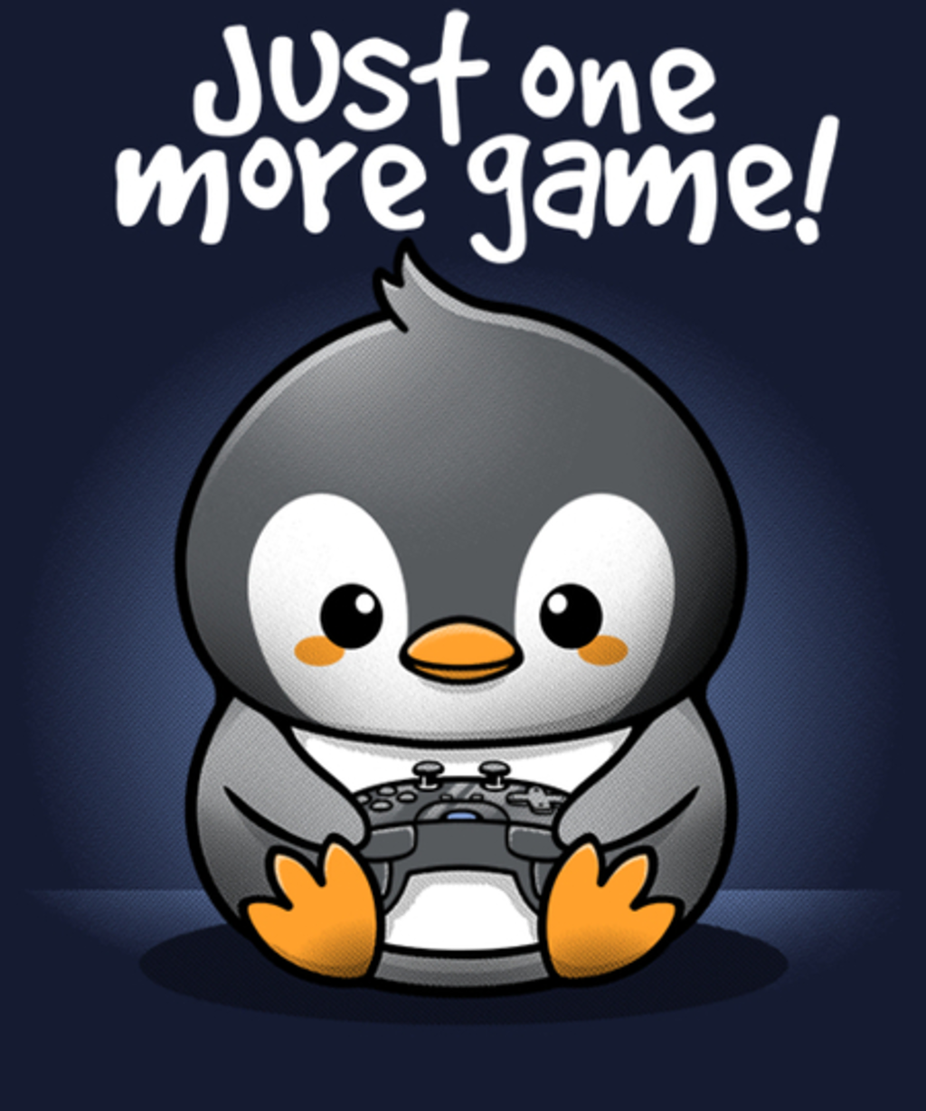 Qwertee: Penguin one more game