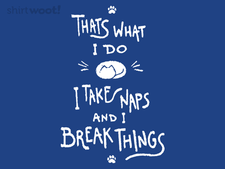 Woot!: I Take Naps And I Break Things