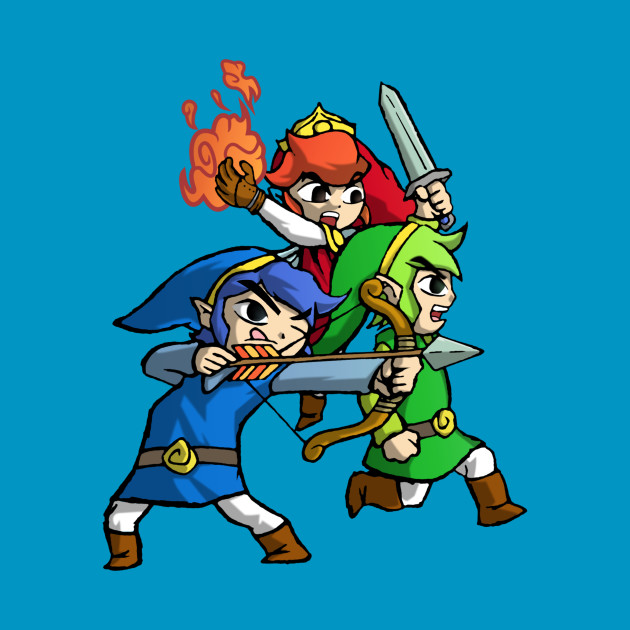 TeePublic: Triforce Heroes Legend of Zelda