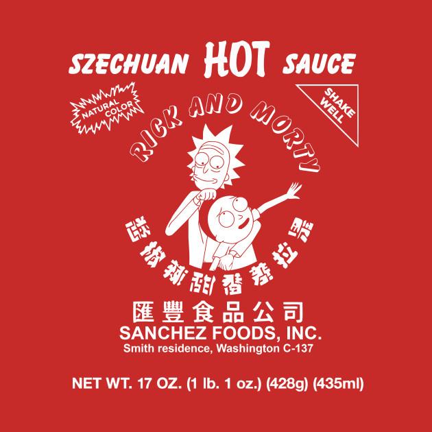 TeePublic: Szechuan Hot Sauce (Rick & Morty)