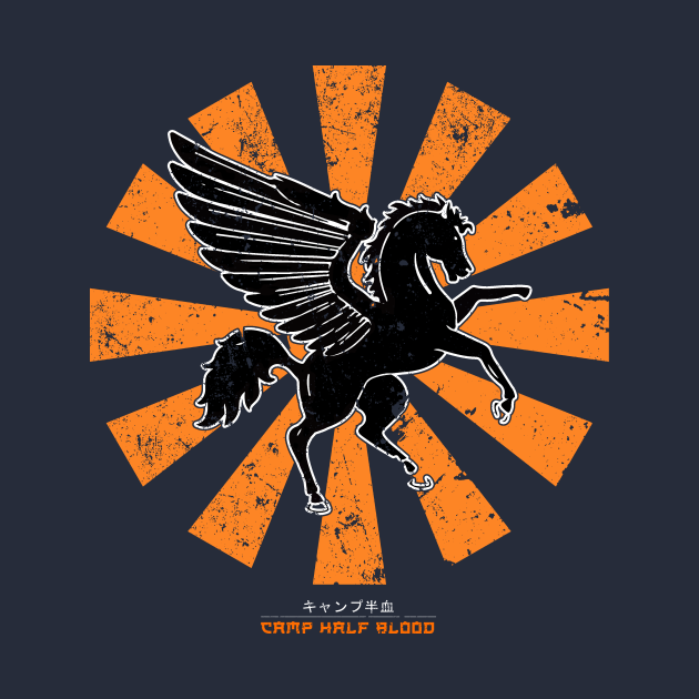 TeePublic: Camp Half Blood Retro Japanese Percy Jackson