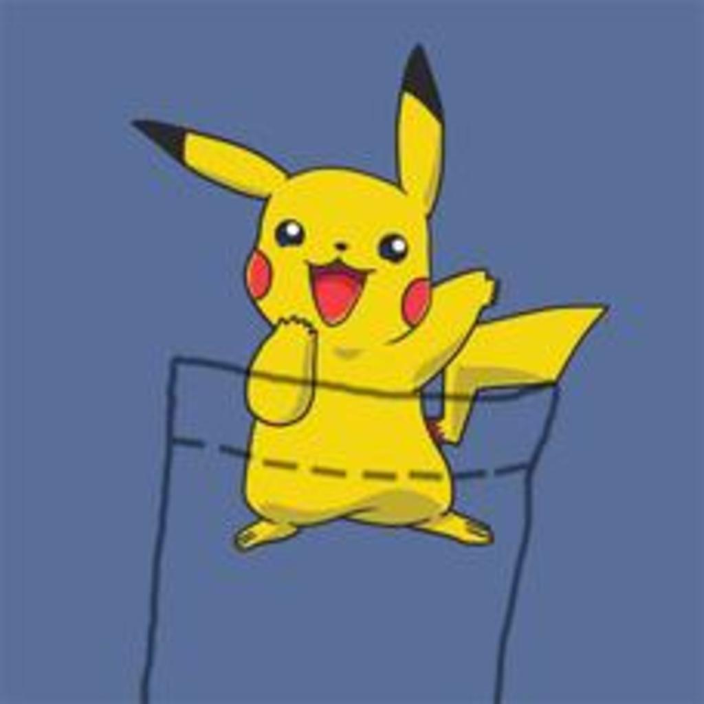 Textual Tees: Pikachu Pocket Tee