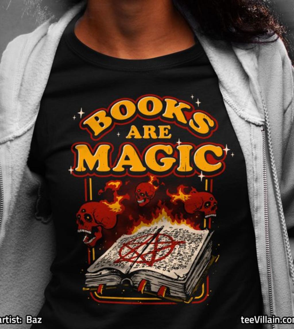 teeVillain: Books are Magic