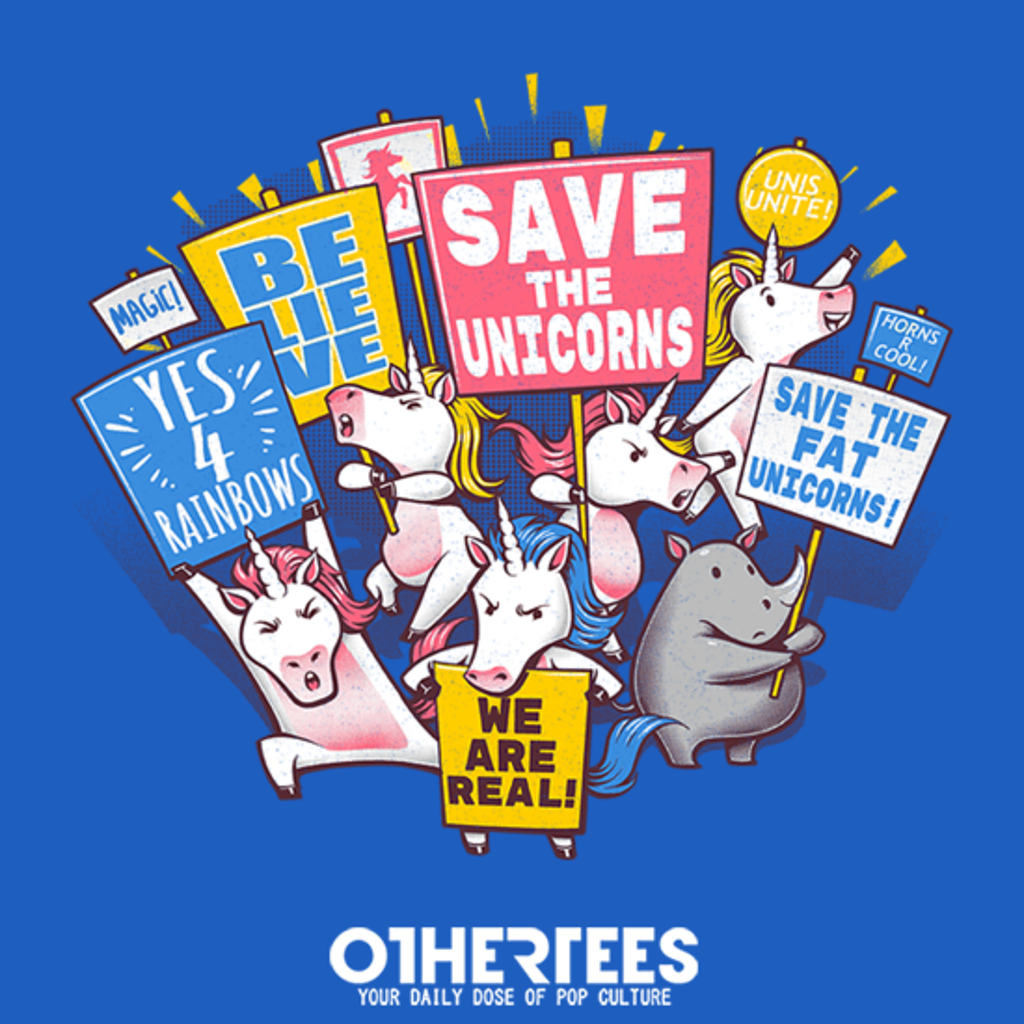OtherTees: Save the Unicorns!