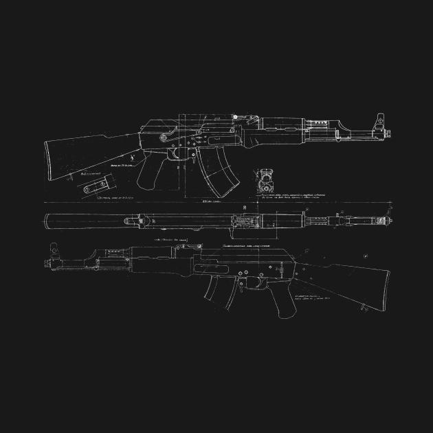 TeePublic: AK-47 Diagram (white)