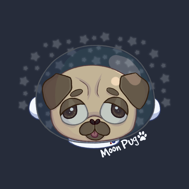 TeePublic: Goodbye Moon Pug