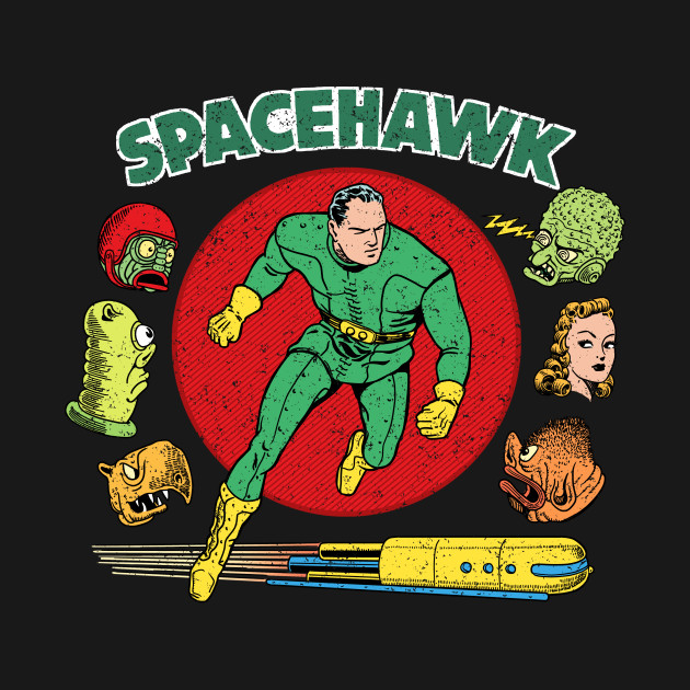 TeePublic: Spacehawk Vintage Art