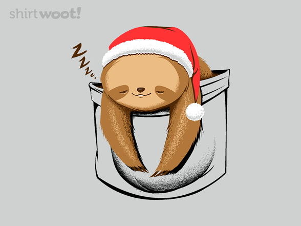Woot!: Holiday Pocket Sloth - $8.00 + $5 standard shipping