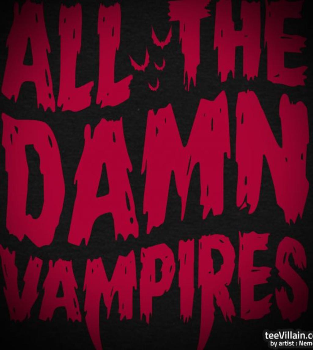 teeVillain: Damn Vampires
