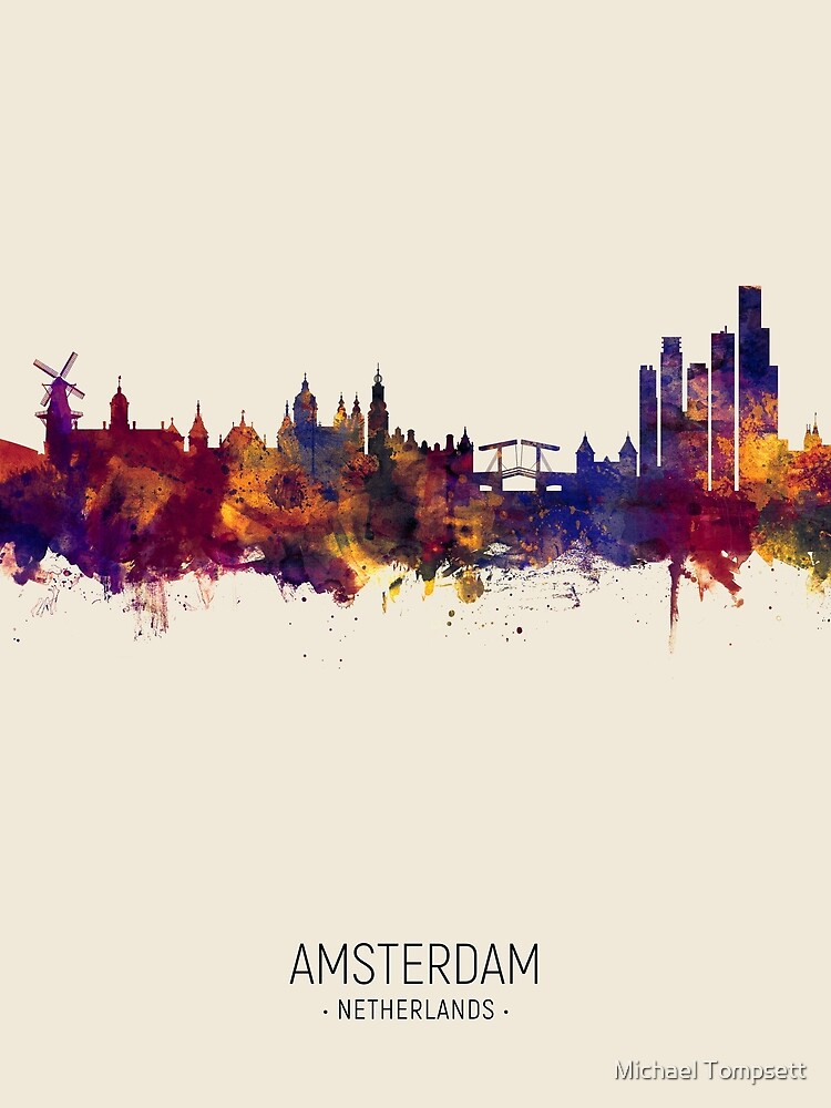 RedBubble: Amsterdam The Netherlands Skyline