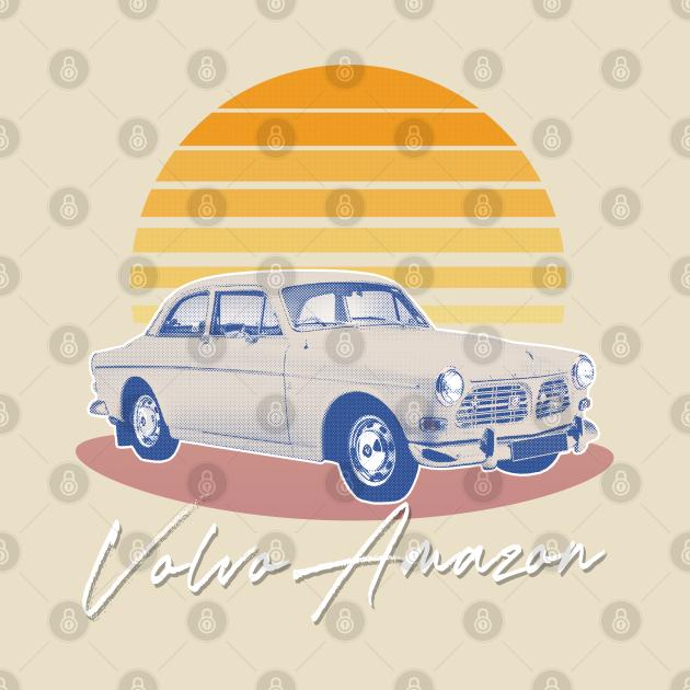 TeePublic: Volvo Amazon / Retro Fan Art Design
