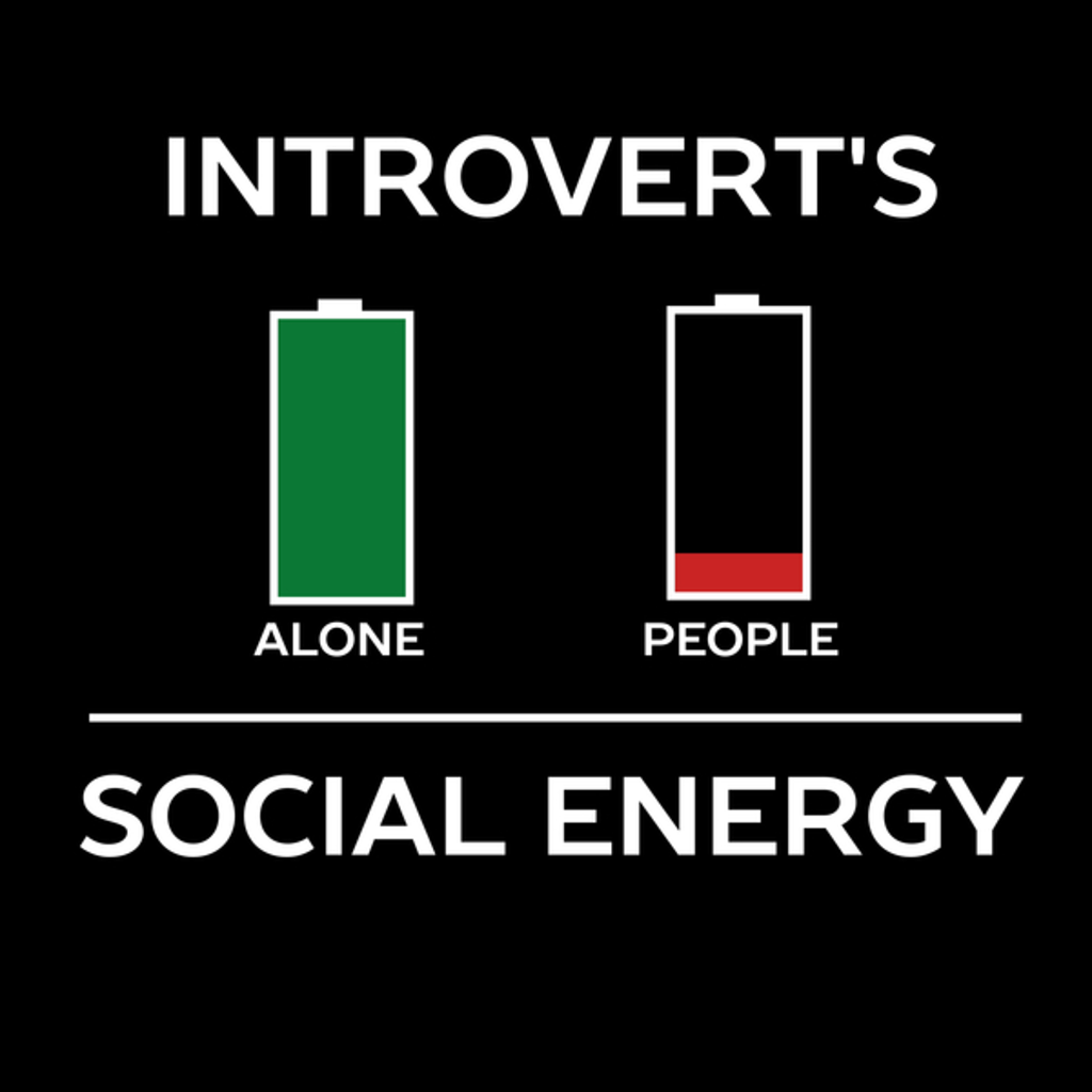 NeatoShop: Energy Is Low Funny Introvert Humour