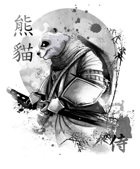 Qwertee: Samurai Panda