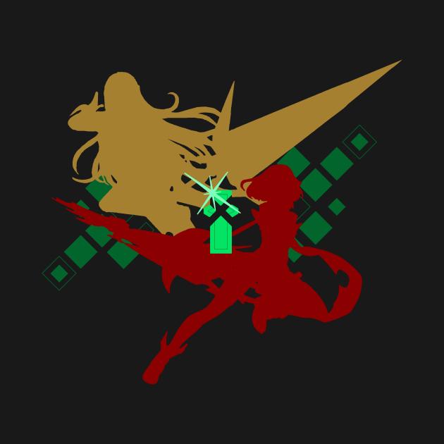 TeePublic: Pyra & Mythra Silhouette (Dark)
