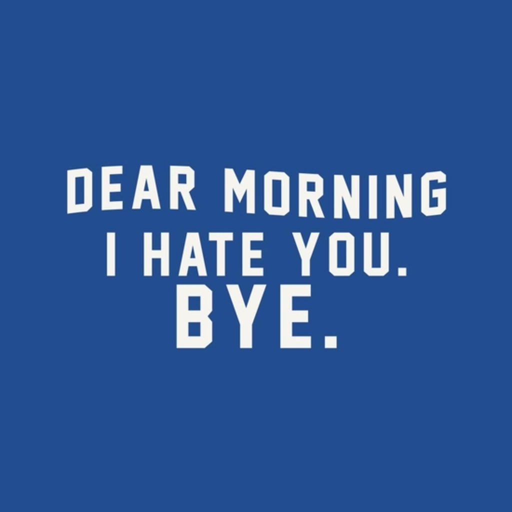 BustedTees: Dear Morning I hate you BYE