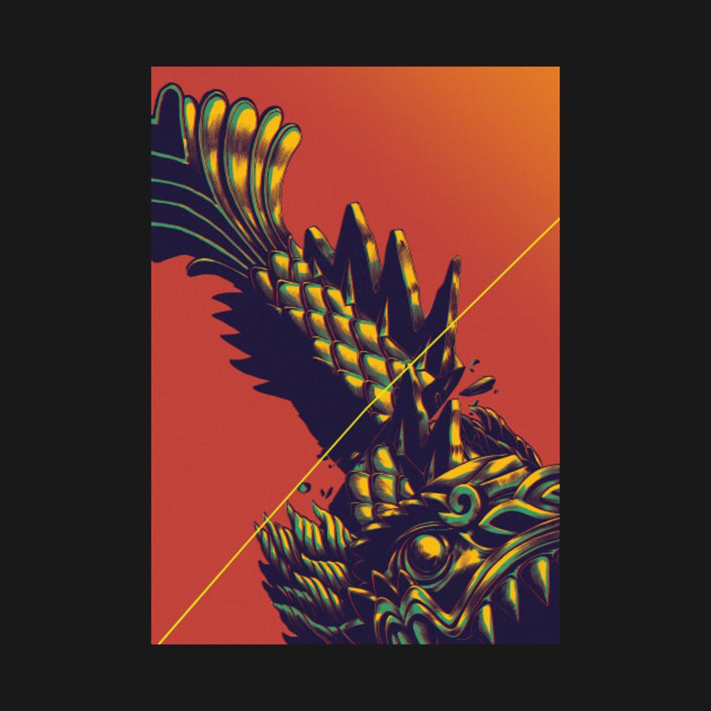 TeePublic: Dragon Statue Slice