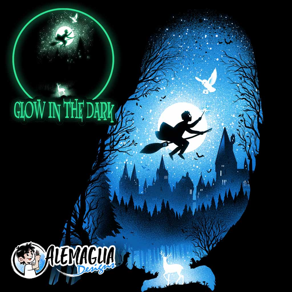 TeeTee: Wizard's Owl – glow in the dark