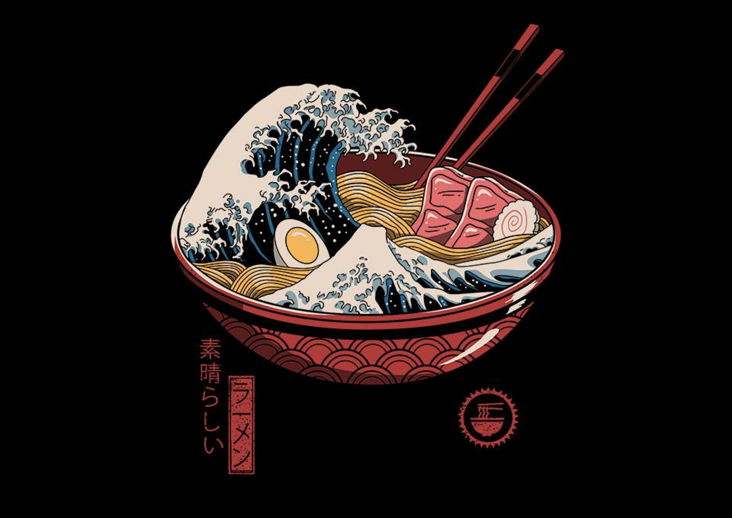TeeFury: Great Ramen Wave