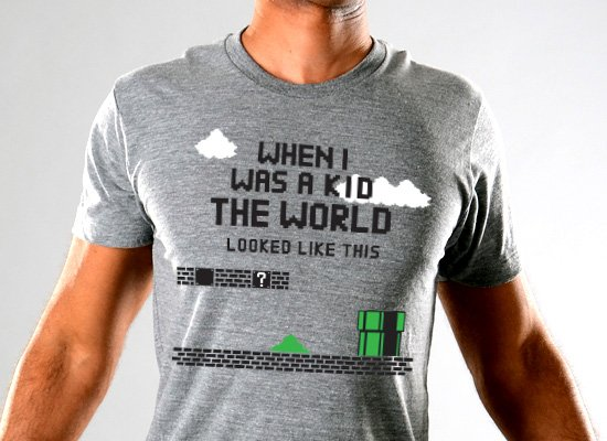 SnorgTees: When I Was A Kid The World Tri-Blend