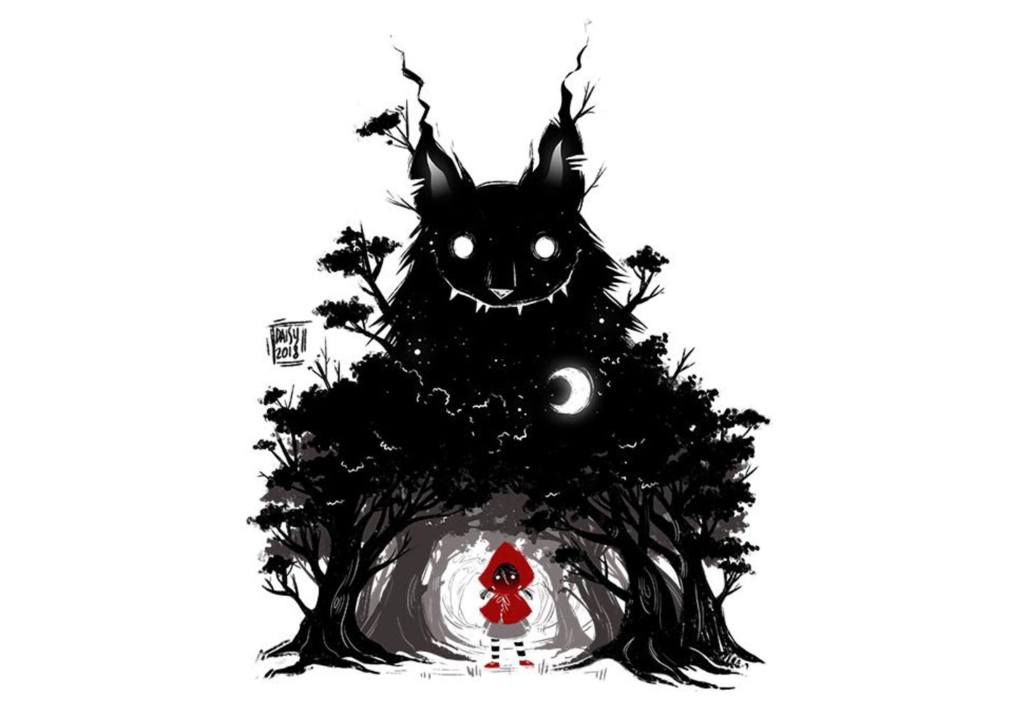 TeeFury: Creepy Red Hood