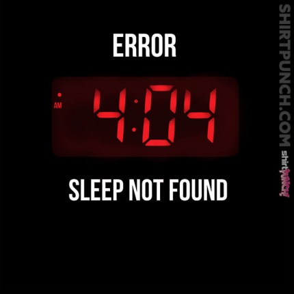 ShirtPunch: Sleep Error