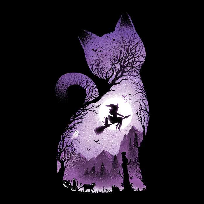 Once Upon a Tee: Witch's Cat