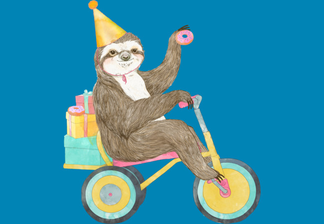 Design by Humans: Birthday Sloth