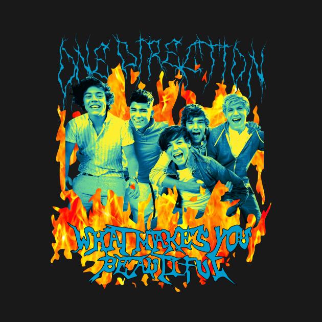 TeePublic: Heavy Metal One Direction T-Shirt Heavy Metal One Direction