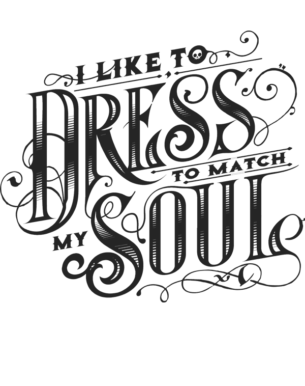 teeVillain: Dress to Match My Soul