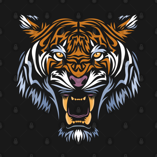 TeePublic: Tribal face tiger