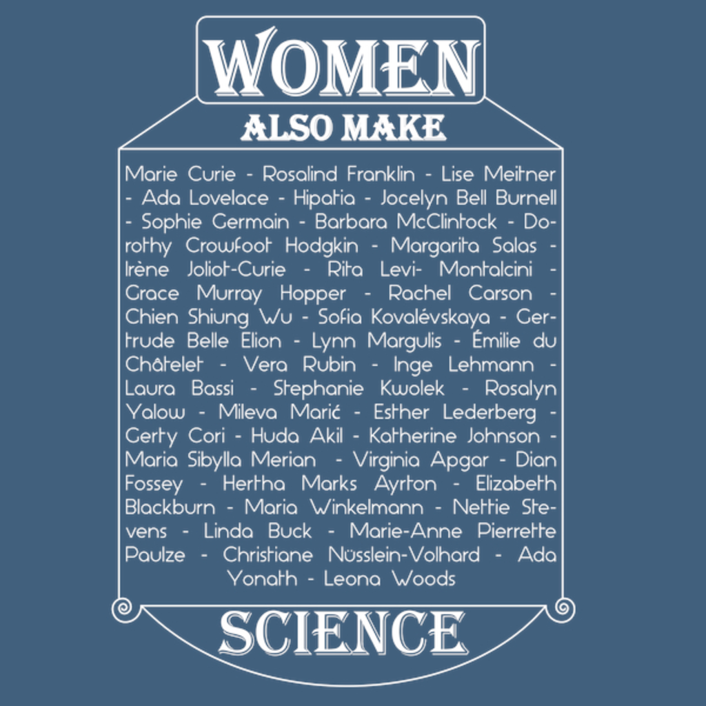 NeatoShop: Women also make science (white)